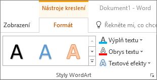 Skupina styly WordArt