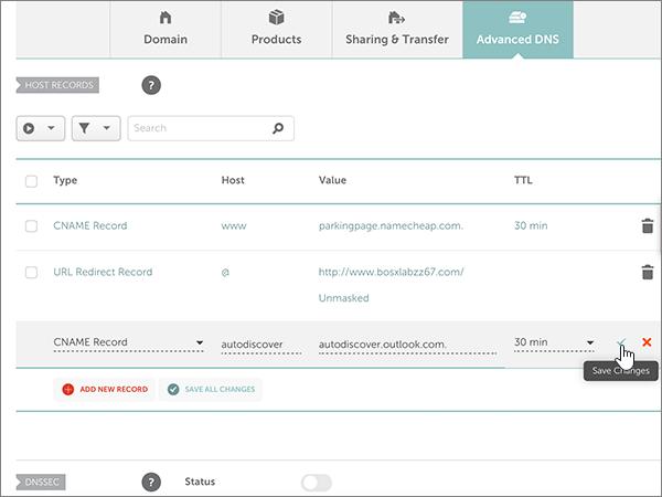 Namecheap – doporučených postupů – konfigurace 3-3