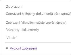 Zobrazení části na stránce Nastavení domény