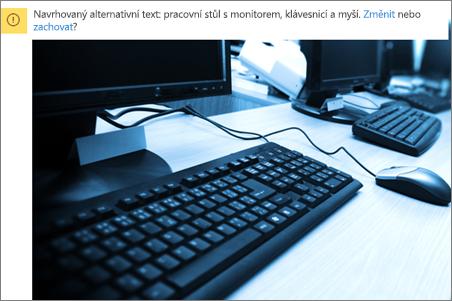 Obrázek se zprávou alternativní text