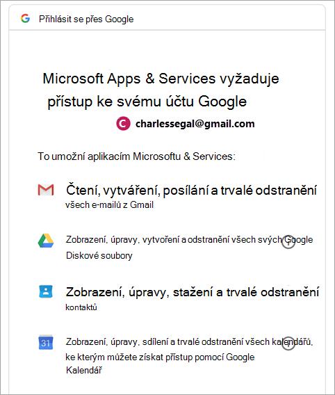 požádat o oprávnění Google