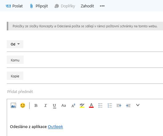 Přidejte adresy do e-mailu v poštovní schránce webu.