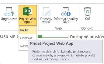 Project Web App > Přidat