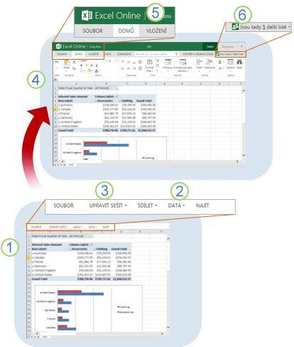 Excel Web App – rychlý přehled