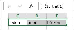 Pojmenovaná konstanta použitá v maticovém vzorci