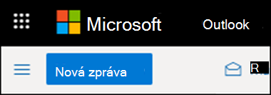 Pás karet v Outlooku na webu