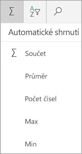 Součet oken v Excelu pro Windows