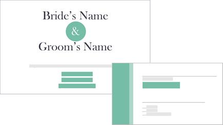 Koncepční obrázek svatební oznámení a odpovědní kartu