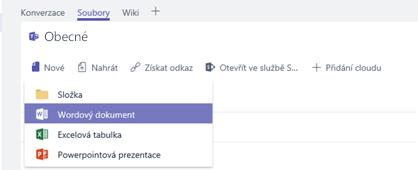 Vytvoření nebo nahrání nového souboru do knihovny souborů kanálu
