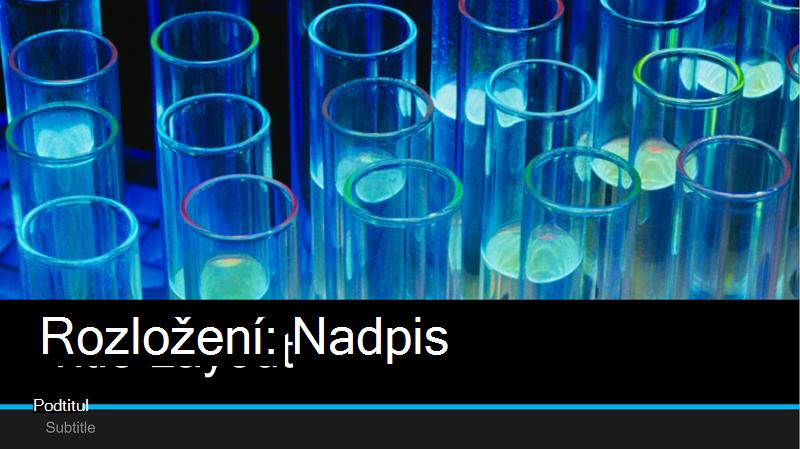 Snímek obrazovky s prezentací testovací prezentace