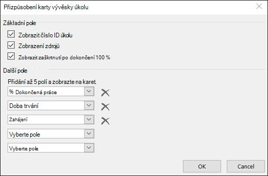 Přizpůsobení nastavení konfigurace karty