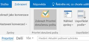 Funkce prioritní doručené pošty v Outlooku