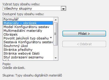 Přidání sloupce webu