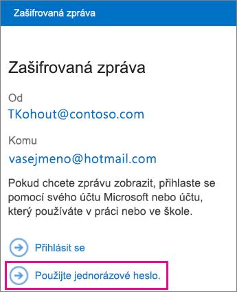 OME Viewer - heslo zprávy