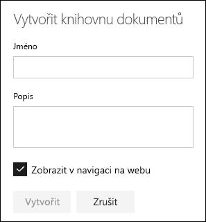 Podrobnosti knihovny dokumentů