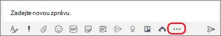 Pole pro psaní zpráv v Microsoft Teams