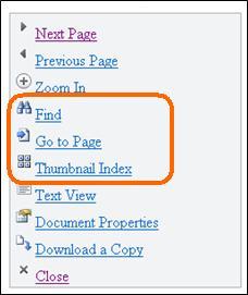 Nabídka v prohlížeči Mobile Viewer pro Word