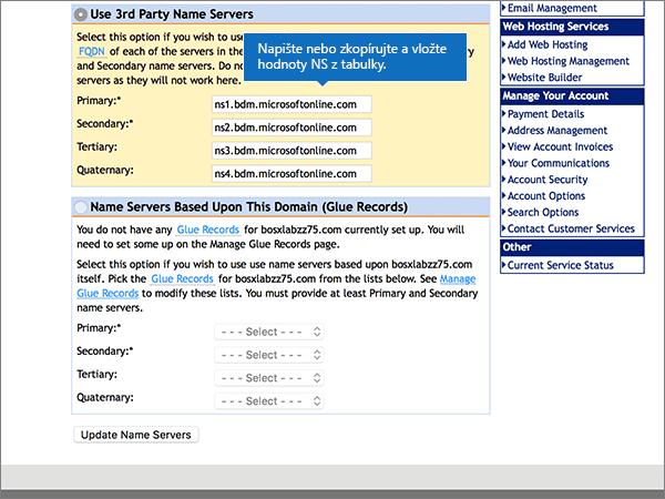 DomainMonster doporučených postupů-změna delegování-1-3
