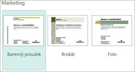 Šablony pohlednic kategorie Marketing pro Publisher
