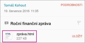 OME Viewer s Androidem e-mailovou aplikaci 1
