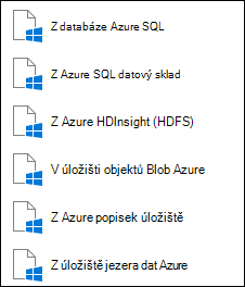 Načtení dat z Microsoft Azure