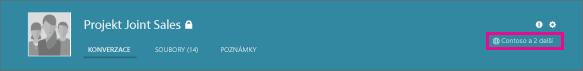 Snímek obrazovky s záhlaví skupiny služby Yammer s ikonou zeměkoule, která ukazuje, že jde o externí skupinu.