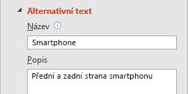 Funkce alternativního textu pro obrázky v PowerPointu