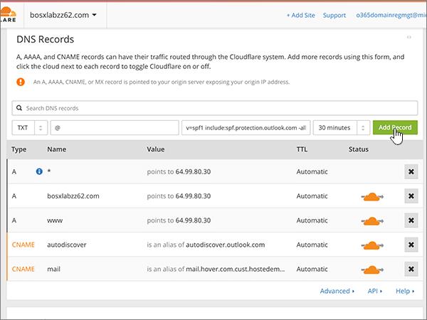 Cloudflare doporučených postupů – konfigurace – 4-5