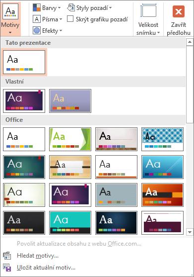 Motivy aplikace PowerPoint