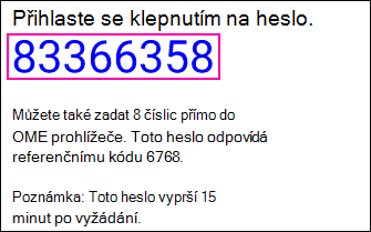 Heslo pro chráněnou zprávu