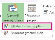 Nastavení směrného plánu pro váš projekt