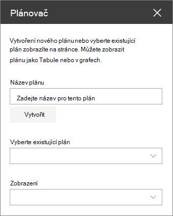 Podokno úloh Souprava nástrojů Plánovač webové části