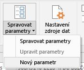 Power Query – Možnost Spravovat parametry