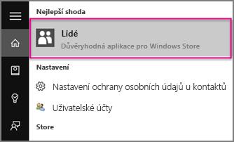Zadejte osoby ve Windows 10
