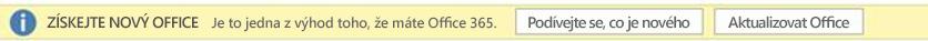 Snímek obrazovky s výzvou Získejte nový Office