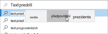 Prediktivní vkládání textu pic