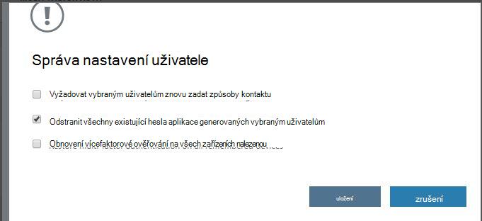 Odstranění aplikace hesla