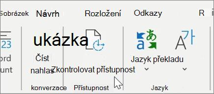 Kontrola přístupnosti v Word1