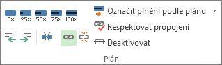 Tlačítko Propojit ve skupině Plán na kartě Úkol