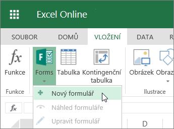 Formuláře > Nový formulář