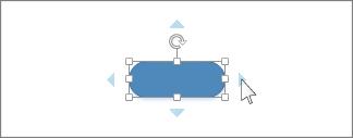 Kurzor, který kliká na modrou šipku Automatické spojení
