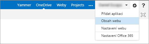 Kliknutím na Obsah webu se dostanete k poznámkovým blokům předmětů