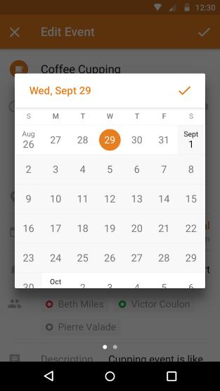 Výběr času v Androidu