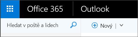 Takto vypadá webový pás karet Otlooku.