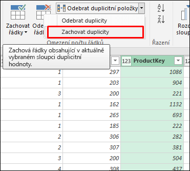 Power Query – Zachovat duplicity