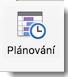 Na kartě Schůzka organizátora se zobrazuje ikona Plánování.