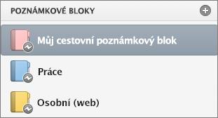 Seznam poznámkových bloků ve stavu offline