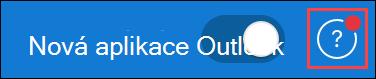 Snímek obrazovky s ikonou nápovědy při aktualizaci od podpory