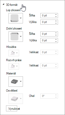 Nastavení formátu 3D
