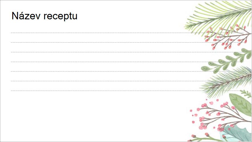 Obrázek svátku – karta receptů